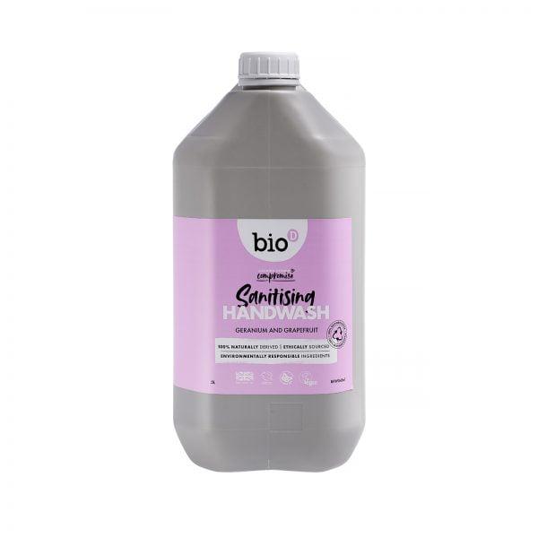 Bio-D Geranium & Grapefruit Sanitising Hand Wash – 5L