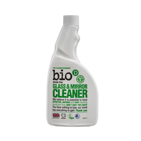 Bio-D Glass & Mirror Spray Refill – 500ml
