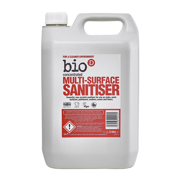 Bio-D Multi Surface Sanitiser – 5L