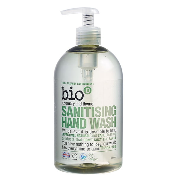 Bio-D Rosemary & Thyme Sanitising Hand Wash – 500ml With Pump