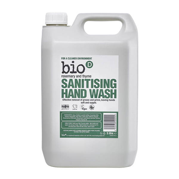 Bio-D Rosemary & Thyme Sanitising Hand Wash – 5L