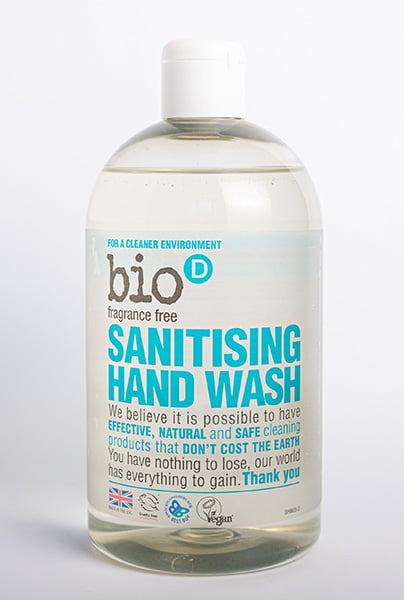Bio-D Sanitising Hand Wash (fragrance free) – 500ml