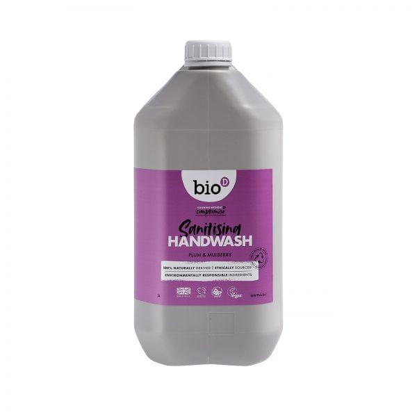 Bio-D PLUM & MULBERRY SANITISING HAND WASH – 5L