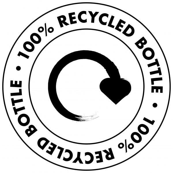 100% Recycled Bottle Logo